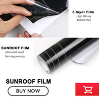 1 52 2M Glossy Black Car Sunroof Sticker Film Sunroof Vinyl Film Free Shipping By Fedex