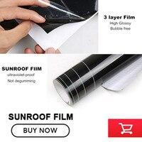 1 52 2M Glossy Black Car Sunroof Sticker Film Sunroof Vinyl Film Free Shipping By Fedex