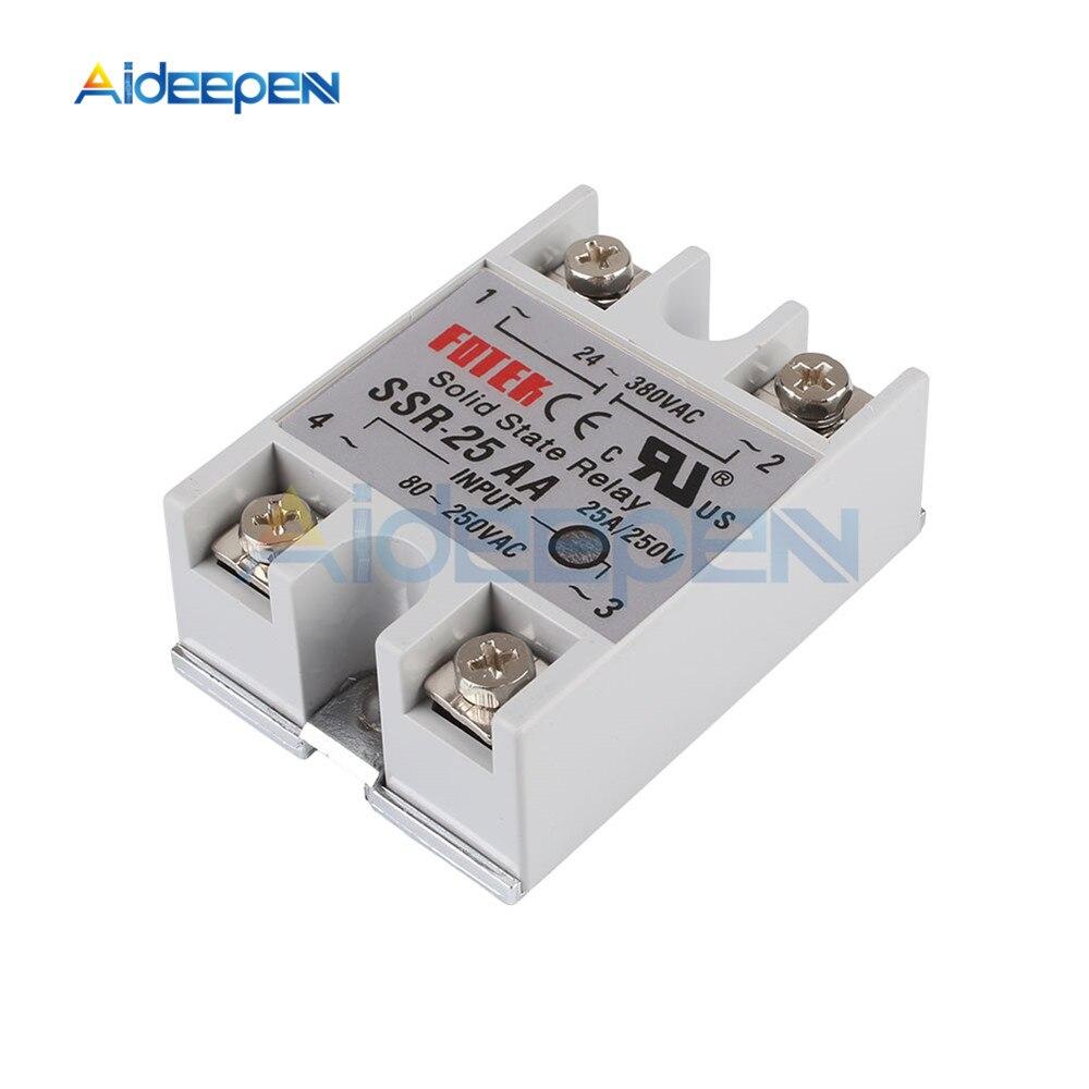 1pcs Solid State Relay SSR-100 AA AC-AC 100A//250V 80-250VAC//24-380VAC