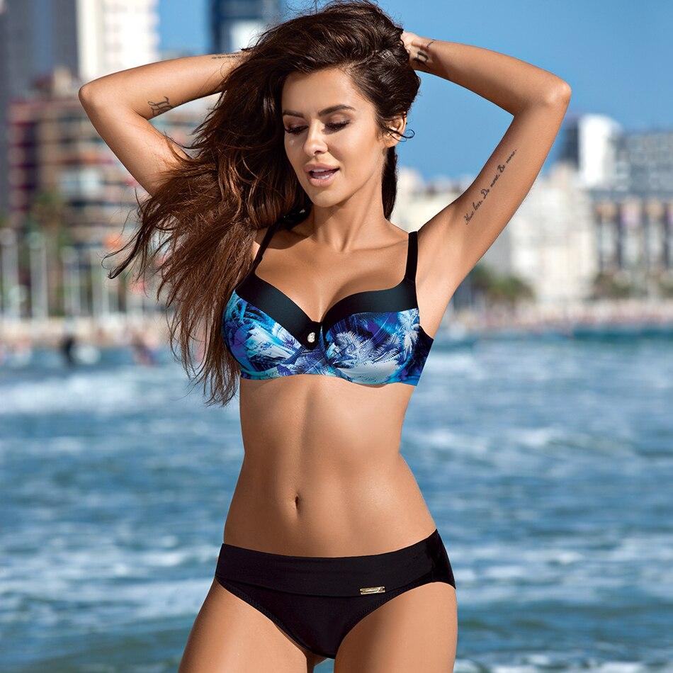 Women Swimwear Summer Push Up Swimsuit Bikini Set Sexy Print Plus Size Bathing Suit Beachwear Bikinis Maillot Biquini XXL