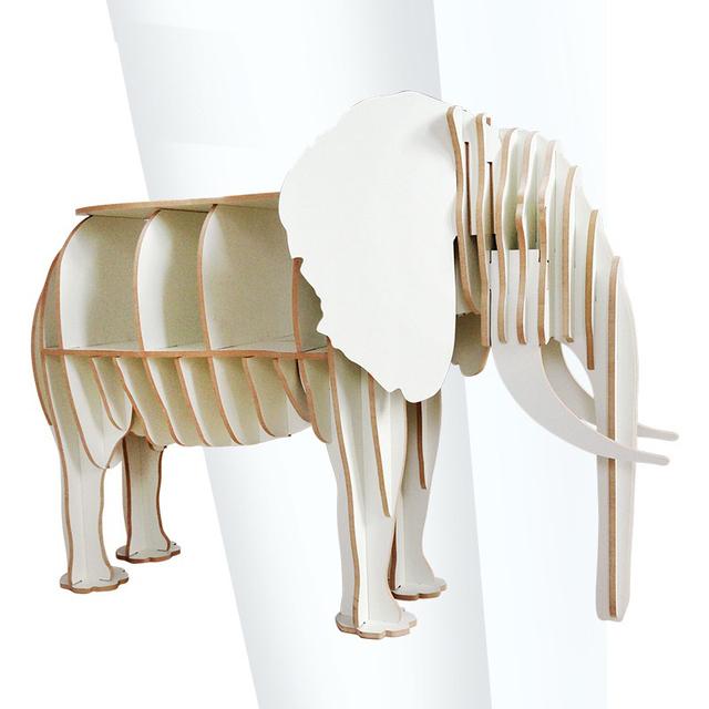 O ENVIO GRATUITO de atacado Fábrica Europeia Artes Artesanato decoração de Casa Decoração elefante de madeira DIY de madeira de móveis de madeira mesa de café