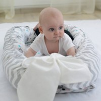 Foldable Nest Bed Portable Bed Bassinet Infant Kids Bed Bionic Cot Newborn Crib Mattress Bumper Lounger