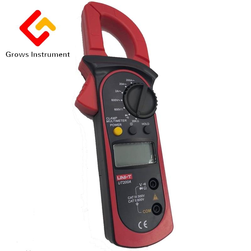 UT203 Digital clamp meter digital multimeter ammeter resistance to high precision DC voltage meter digital meter clamp ammeter hook 31022a