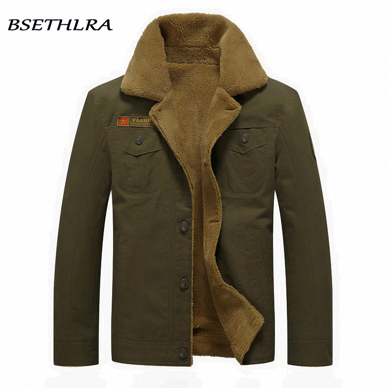 2020 Winter Bomber Jacket Men Air Force Pilot Jacket Warm Male 