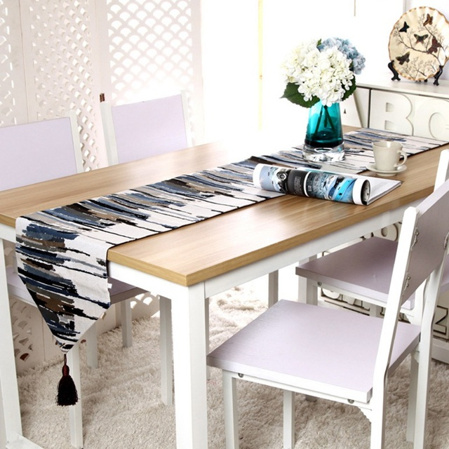 Fashion Oil Painting Table Runners Hotel Sofa Protective Cloth Cover Dustproof Home Textile