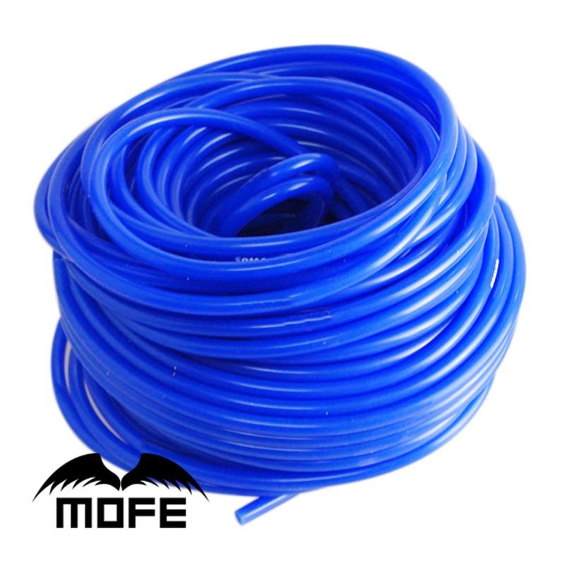 Mofe автомобильный силиконовый вакуумный шланг 5meter 3mm / 5mm вакуумная труба вакуумный силиконовый шланг труба четыре цвета