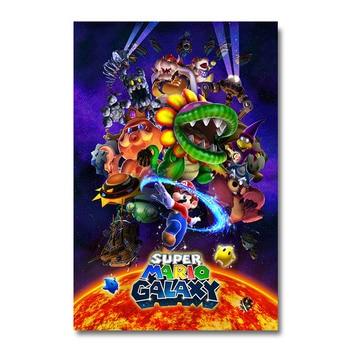 Плакат гобелен Супер Марио Galaxy 2 Шелк вариант 3