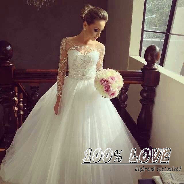 Long Sleeve Wedding Dress Handmade