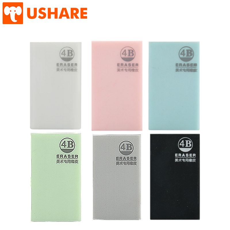 USHARE PVC Rubber Stationery Latest Pure Colored Unbreakable Durable Giant Student Pencil Colorful Eraser School Office Supplies