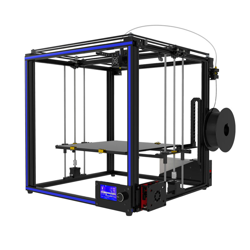DIY Aluminum 3D Printer Kit 400*400*400mm Large Printing Size With Dual Z-axis Rod HD LCD Screen Double Fan 1.75mm 0.4mm Nozzle flsun delta 3d printer large print size 240 285mm 3d printer pulley version linear guide kossel large printing size