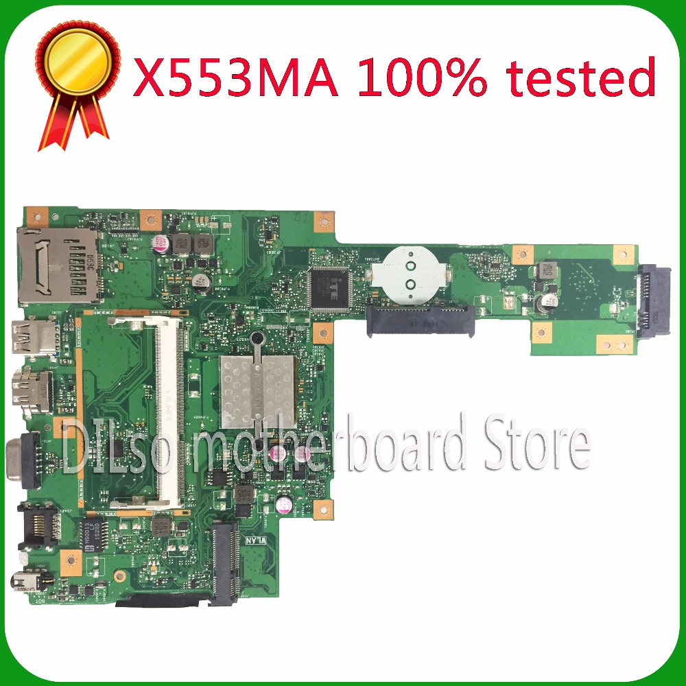 KEFU X553MA For ASUS X553MA x503m f553ma f553m Laptop motherboard X553MA mainboard REV2.0 Integrated 100%tested freeshipping diplomat ручка excellence a guilloch chrome black перо diplomat d20000398