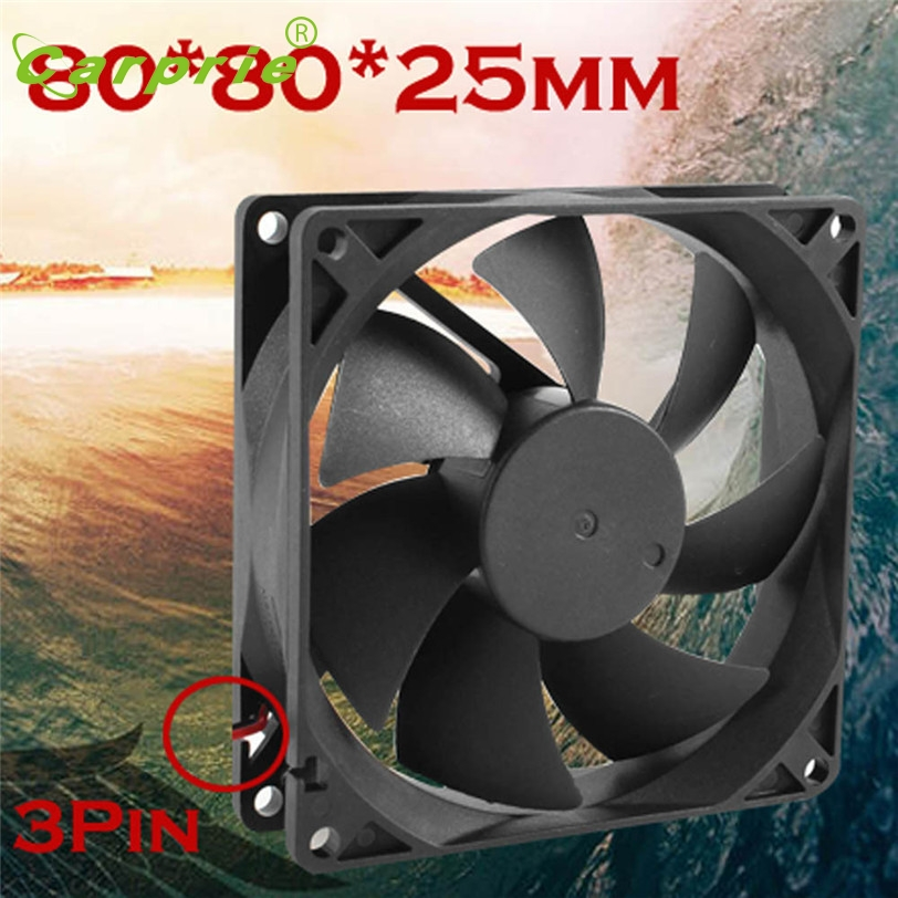 Quiet Cooling Fan 8cm/80mm/80x80x25mm DC 12V Silent Computer/PC/CPU Case Cooler Mar30 new original sanyo 9gl0812p1k05 12v 1 8a 80 80 38mm 8cm computer server cooling fan