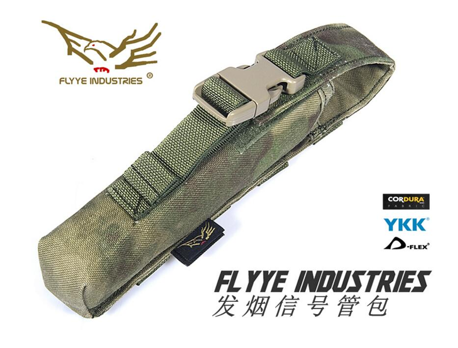 FLYYE MOLLE Pop-up Flare Pouch Smoke Signal Tube Pouch CORDURA Multicam AOR AU Wargame Airsoft Hunting PH-O003