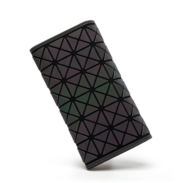 Women Wallets Purse Geometry Luminous Ladies Clutch Phone Bag Female Zipper Wallet Card Holder 5