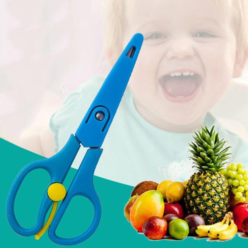 Детские Еда добавочные ножницы для Нержавеющая сталь пищевая добавка режущего инструмента еда для детей ножницы инструменты для ногтей детские ножницы