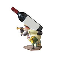 Fun Mediterranean cartoon pirate treasure resin wine holder wine rack people sculpture decoration