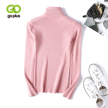 GOPLUS 2019 Turtleneck Womens knitted Sweater Pink Thick Warm Long Sleeve Jumper Pullover For Women Autumn Winter Clothes Femme