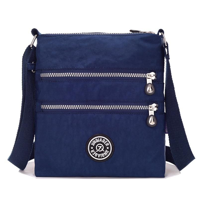 Pequeño bolso de nylon bolsa de mensajero de las mujeres a prueba de agua Crossbody bolsas de doble capa Satchels bandolera para Iphone Bolsa