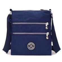 Малый нейлоновая сумка Для женщин Водонепроницаемый Crossbody сумки двойной Слои Satchels сумка для Iphone Bolsa