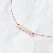 HIYONG Customized Fashion Stainless Steel Name Necklace Personalized Letter Gold Choker Necklace Pendant Nameplate Best Gifts цена 2017