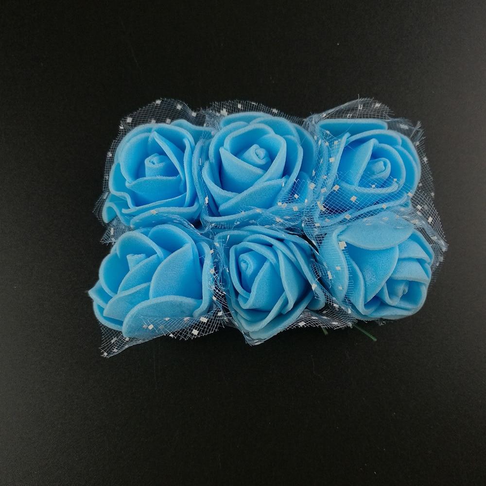 12 шт. 3.5 см дешевые искусственные мини-вспененный полиэтилен выросли цветы возглавить DIY Свадебные Room свадебное украшение автомобиля Моделирование цветок мяч