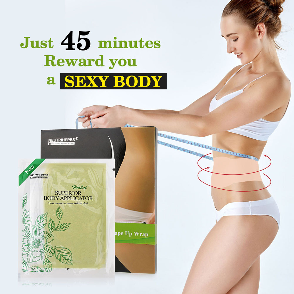 Neutriherbs Weight Loss Body Wraps It Works For Detoxifying Tightening Slimming Creams Slim Patch Detox 5pcs Wraps=1Box 80pcs slim patch weight loss patch slim efficacy strong slimming patches for diet weight lose products beauty health care