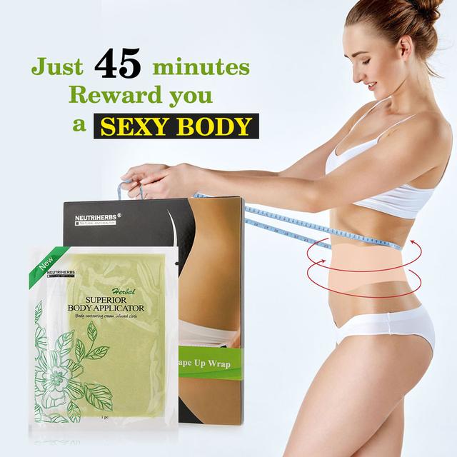 Neutriherbs cuerpo pérdida de peso envuelve funciona para apriete cremas adelgazantes delgado parche de desintoxicación desintoxicación 5 unids envolturas = 1 caja
