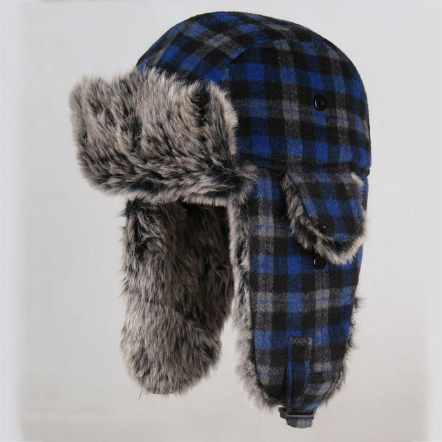 d1eb7c56a94 Wholesale Hot Sale Bomber Hats Ushanka Russian Hat Fur Winter Hats sports  snow outdoor aviator ear