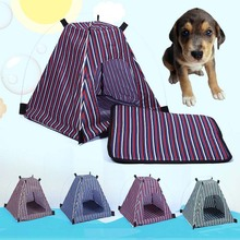 Outdoor Pet Tent Folding Striped Portable Cat Dog Puppy House Pets Supplies FP8