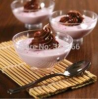 100pcs/lot Hard Plastic Disposable Dessert Bowl 2oz Plastic Cake Dish /Mini Small Bowl For Party Festival Wedding