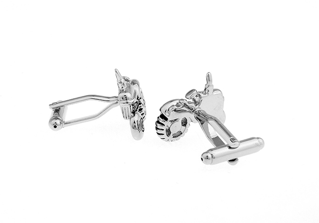 Igame Jewellery Tractor Cufflinks Wholesaleretail Silver Color Copper Vehicle Design