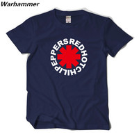 Red Hot Chili Peppers T-shirt Hommes Rock Roll Fans RHCP Casual Fit T-shirt Homme 3D Motif Imprimé Coton XXL Camisetas T chemises