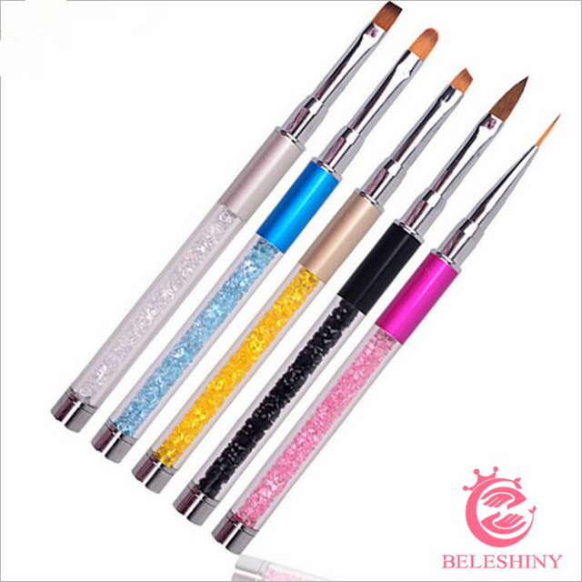 Aliexpress Buy Beleshiny Nail Art Brush Set 5 Styles Gel
