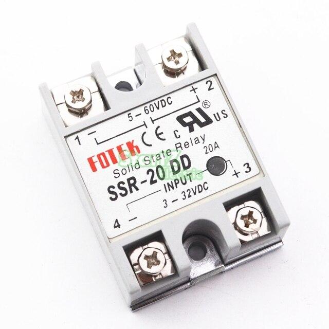 1Pcs SSR20DD SSR 20DD Manufacturer 10A solid state relay input 3