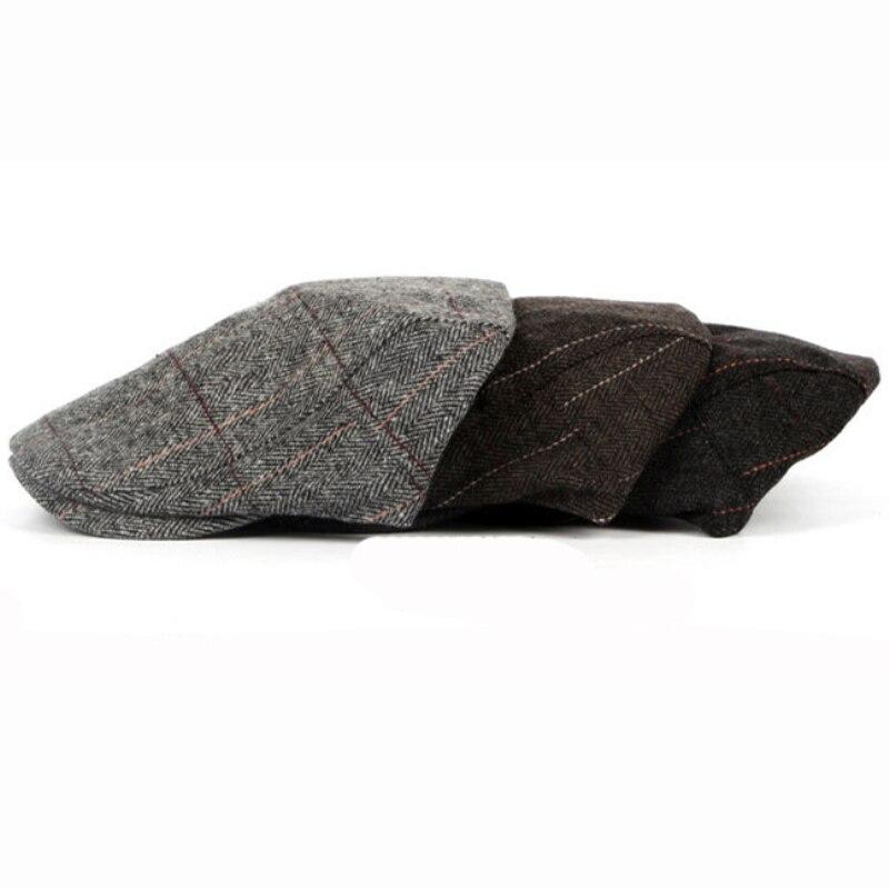 HT1329 2017 Otoño e Invierno de los hombres de sombreros boinas británico  estilo occidental lana avanzada de Ivy tapa clásico Vintage a rayas de la  boina en ... 5f3ffdd3e3c