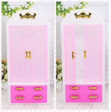 original princess case for barbie furniture sets Doll fantasy Universal Makeup Desk Wardrobe with Chair Girl toy