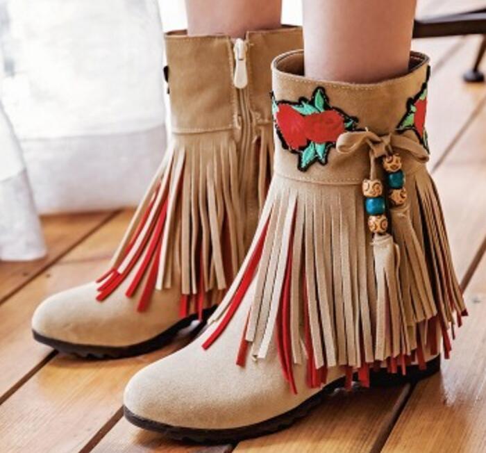6e00553cc3ef93 G61218 Cheville Croissante Hauteur Dames Femme Pompes Bottes Black Mujer  apricot Zapatos Neige Femmes Feminino Hiver Sapato Gland Wedge Chaussures  ...