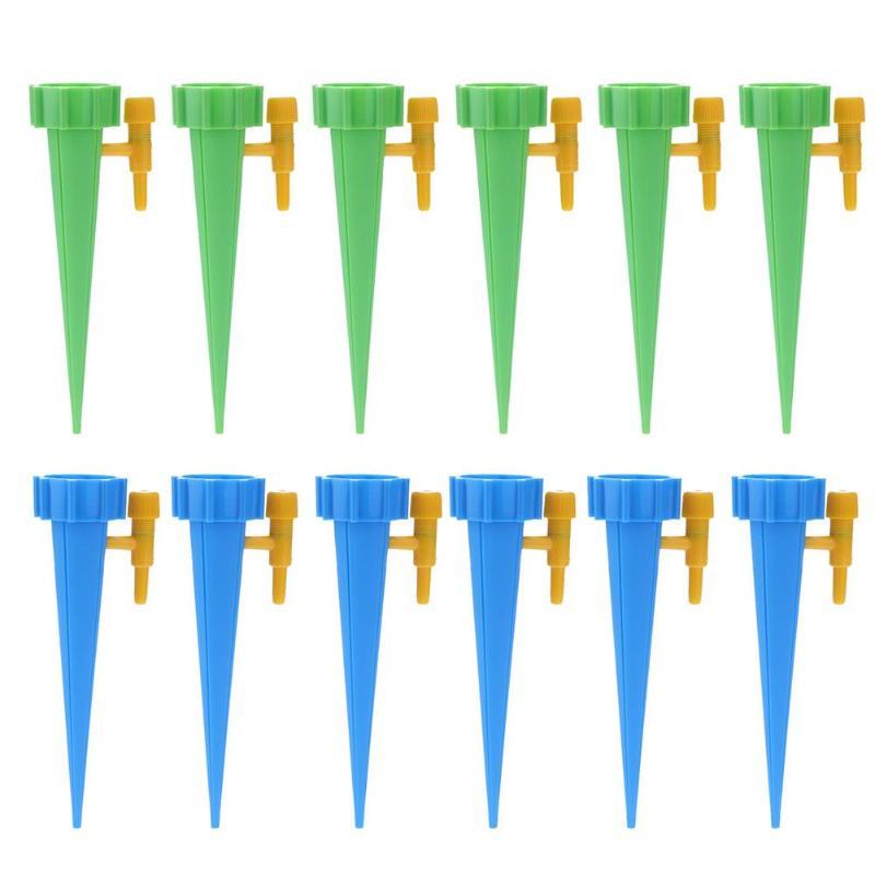 12pcs Self contained Auto Irrigazione a goccia Sistema di Irrigazione Automatica Irrigazione Spike per le Piante Al Coperto Per La Casa Waterers Bottiglia|Kit di irrigazione|Casa e giardino -