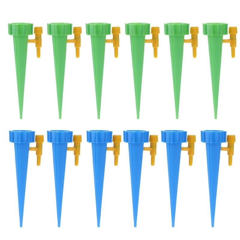 12pcs/set Auto Drip Irrigation Watering System Automatic Watering Spike For Plants Flower Indoor Household Waterers Bottle