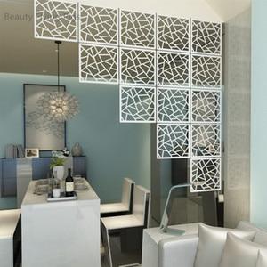 Image 4 - 12 шт. 29х29 см подвесные экраны, детали для гостиной, перегородки, настенное искусство, сделай сам, украшение из белого дерева, пластиковая пряжа