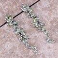 Charming Green Peridot 925 Sterling Silver Drop Dangle Earrings For Women  S0203