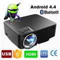 2017 Новый Портативный Цифровой Мини android 4.4 Wi-Fi Bluetooth smart LED ЖК-Проектор HD 1080 P Домашний Кинотеатр Проектор с USB SD HDMI