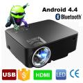2017 Nuevo Digital Portátil Mini android 4.4 Wifi Bluetooth inteligente LED Proyector LCD HD 1080 P del Teatro Casero Beamer con USB SD HDMI