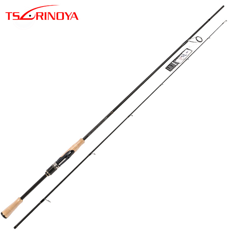 TSURINOYA PROFLEX II спиннинговая Удочка 2,01 м 2,13 м 2 секции спиннинговая Удочка ML/m power Canne A Peche Carbon Fishing Pole