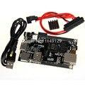Cubieboard2 genuino 1 GB ARM Cortex A7 Dual-Core Allwinner A20 Placa de Desarrollo Mini PC con DC a USB cable de alimentación y cable SATA