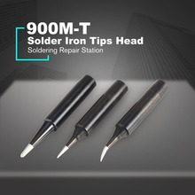 900M T Combination Soldering Iron Tips Head Replacement Solder Tool Repair Station Kits