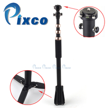 Pixco skilled unipod retractable Monopod Leg 1/four' Tripod Head With Fast Launch Plate gold