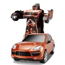 Envío libre modelos de suv deformación robot transformación tt664 control remoto rc car toys para niños embroma el regalo