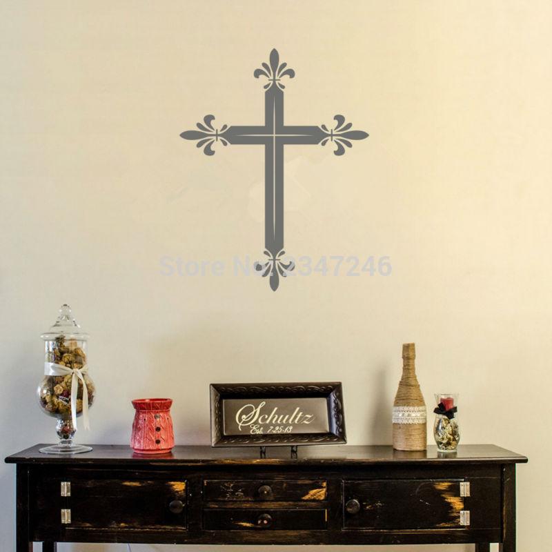 Latin Cross Wall Decal Sticker Religious Religious Wall