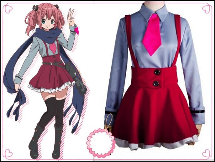 Hot Sale Popular JP Anime Chuunibyou demo koi ga shitai Costumes Shichimiya Satone Cute font b